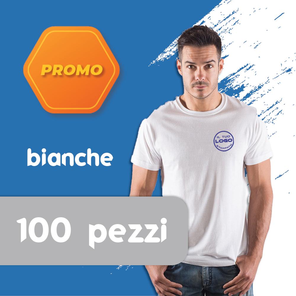 Promo 100 T-shirt bianche Unisex